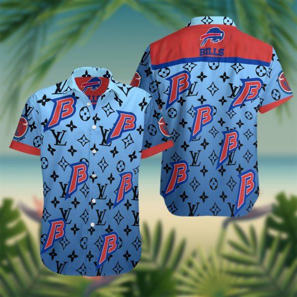 Buffalo Bills Summer Short Sleeve Hawaiian Beach Shirt