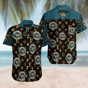 Jacksonville Jaguars Summer Short Sleeve Hawaiian Beach Shirt