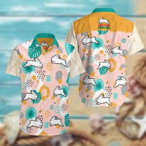 South Sydney Rabbitohs Summer Short Sleeve Hawaiian Beach Shirt