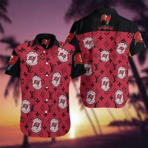 Tampa Bay Buccaneers Lv Summer Short Sleeve Hawaiian Beach Shirt