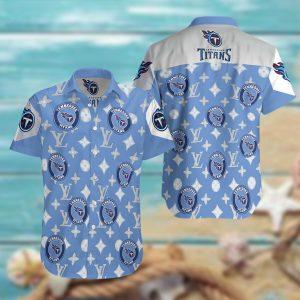 Tennessee Titans Summer Short Sleeve Hawaiian Beach Shirt