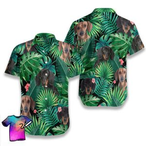 Tropical Dachshund Summer Hawaiian Shorts