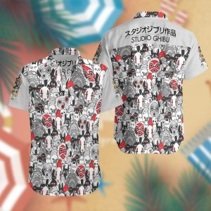 Studio Ghibli Summer Short Sleeve Hawaiian Beach Shirt