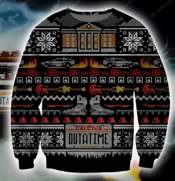 Back To The Future Ugly Christmas Sweater