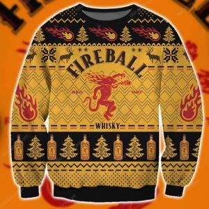 Fireball Cinnamon Whisky Ugly Christmas Sweater