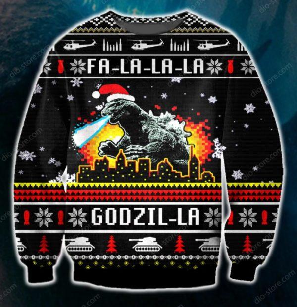 Funny Godzilla Ugly Christmas Sweater