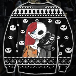 Jack Skellington And Sally Ugly Christmas Sweatshirt