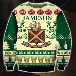 Jameson Irish Whiskey Ugly Christmas Sweatshirt