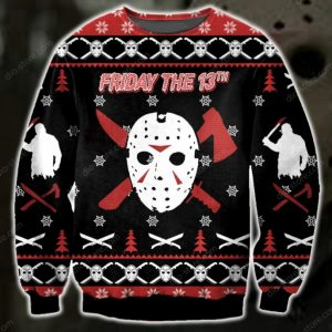 Jason- Friday The 13Th Ugly Christmas Sweater