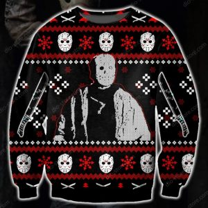 Jason Voorhees Ugly Christmas Sweatshirt