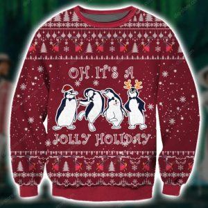 Jolly Holiday Ugly Christmas Sweatshirt