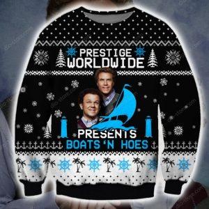 Prestige Worldwide Present's Boats'n Hoes Step Brothers Christmas Sweatshirt