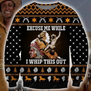 While I Whip This Out Ugly Christmas Sweater