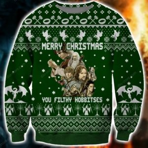 You Filthy Hobbitses Ugly Christmas Sweatshirt