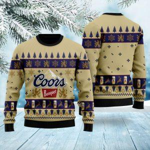 Coors Banquet Beer Ugly Christmas Sweatshirt