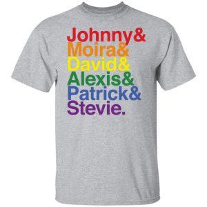 Johnny Moira David Alexis Patrick Stevie Pride Schitts Creek T Shirt